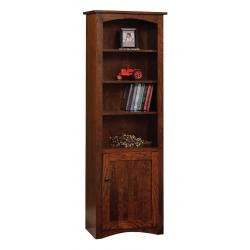 """Shaker 24"""" x 72"""" Bookcase with Door"""