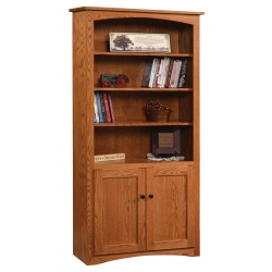 """Shaker 36"""" x 72"""" Bookcase with Doors"""