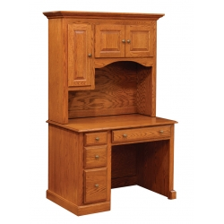 Traditional Student Desk with Hutch