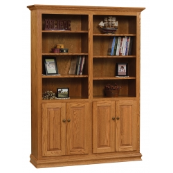 "Traditional 48"" x 72"" Bookcase with Doors"