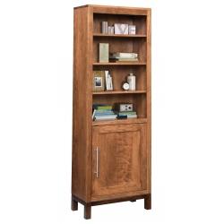 "Vienna 24"" x 72"" Bookcase with Doors"