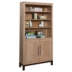 "Vienna 36"" x 72"" Bookcase with Doors"