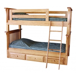 Prairie Mission Bunk Beds with Drawer Unit