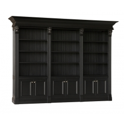 Serenity Triple Library Bookcase with Bead Board Back