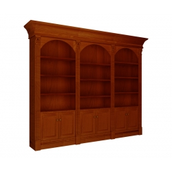 Serenity Triple Library Bookcase with Arches