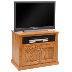 Traditional TV Unit with Open Shelf