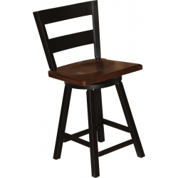 2 Slat Swivel Bar Stool
