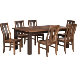 Reclaimed Oak Barnwood Dining Set
