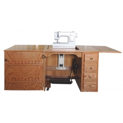 #160 Mission Sewing Cabinet - Open