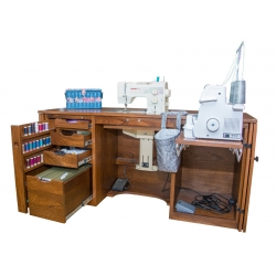 #165B Sewing Machine Cabinet - Open