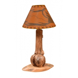 Burled Pine Table Lamp