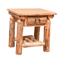 Knotty Pine One Drawer Nightstand