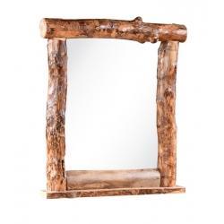 Rocky Mountain Log Top Mirror