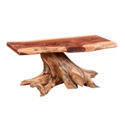 Red Cedar Stump Base Coffee Table