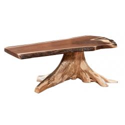 Walnut Stump Base Coffee Table