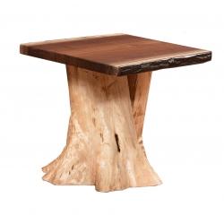 Walnut Stump Base End Table