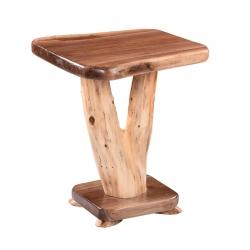 Walnut Y-Base End Table