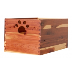 Large Cedar Dog Toy Box