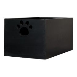 Large Wooden Dog Toy Box - Black