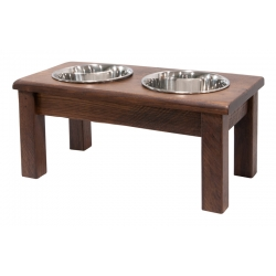 "Rustic 8"" Double Bowl Pet Diner"