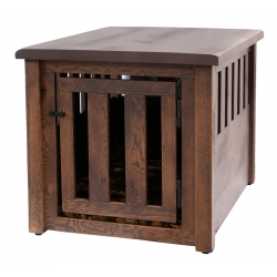 Rustic End Table Dog Crate