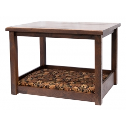 Rustic Post Dog Bed with Top