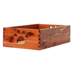Small Cedar Dog Toy Box