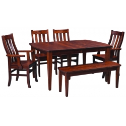 Bowed End Shaker Dining Set