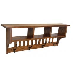 Cubbie Shelf with Hooks