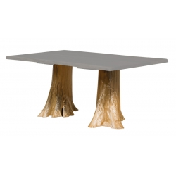 Double Stump Dining Table Base