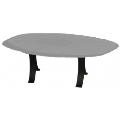 Eclipse Table Base - Double Pedestal