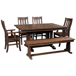 Ragal Trestle Dining Set