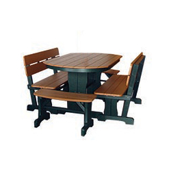 3' x 5 Oval Dining Set