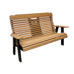 5' High Curve-Back Settee Bench