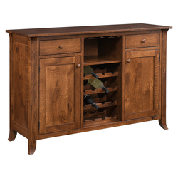 #5839 Wine Buffet (Rustic Quarter Sawn Oak/Curved Legs)