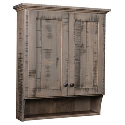 Roughsawn Barn Floor Bathroom Wall Cabinet