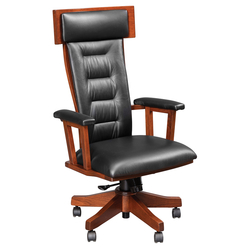 London Desk Chair - Front View