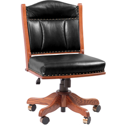 Low Back Side Desk Chair - Front View