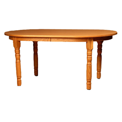Oval Solid Top Dining Table