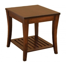 Riviera Slatted End Table