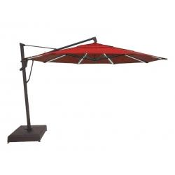 13' Starlight Cantilever Umbrella - Red