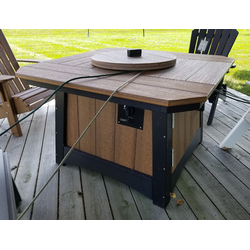 """44"""" Square Fire Pit Table"""