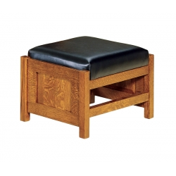 Bow Arm Panel Morris Footstool
