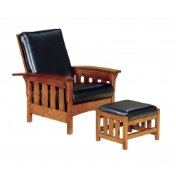 Bow Arm Slat Morris Chair