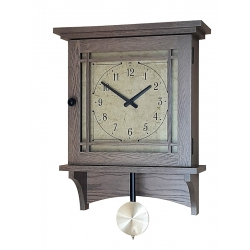 Burlington Wall Clock - Oak with Nature Gray