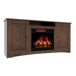 Classic Traditional Electric Fireplace Cabinet with Open Shelf