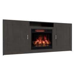 Metro Electric Fireplace Cabinet with Open Shelf