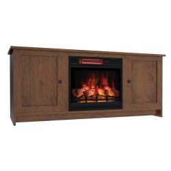 Newport Shaker Electric Fireplace Cabinet