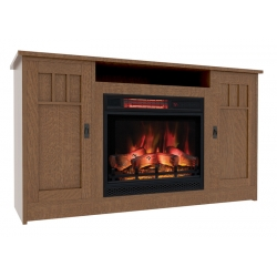 Sierra Mission Electric Fireplace Cabinet with Open Shelf
