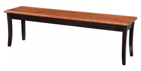 Curved Shaker Leg Bench
